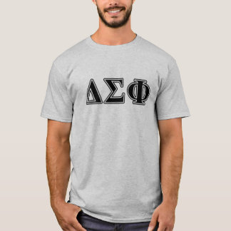 Delta Sigma Phi Black Letters T-Shirt