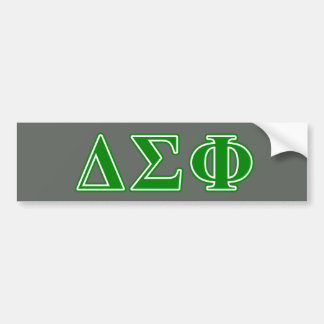 Delta Sigma Phi Green Letters Bumper Sticker