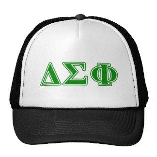 Delta Sigma Phi Green Letters Cap