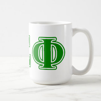 Delta Sigma Phi Green Letters Coffee Mug