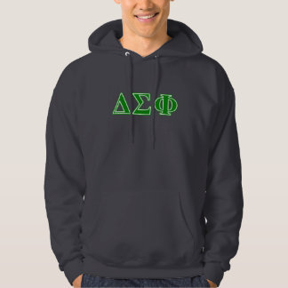 Delta Sigma Phi Green Letters Hoodie