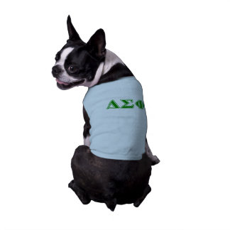Delta Sigma Phi Green Letters Sleeveless Dog Shirt