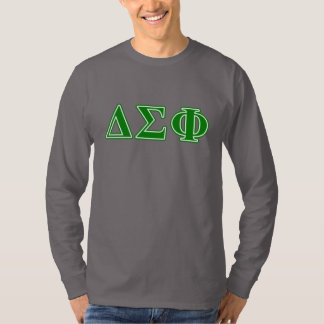 Delta Sigma Phi Green Letters T-Shirt