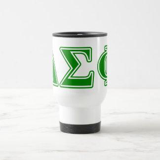 Delta Sigma Phi Green Letters Travel Mug