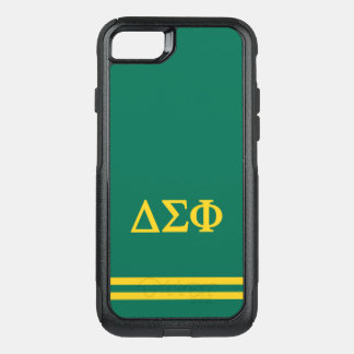 Delta Sigma Phi | Sport Stripe OtterBox Commuter iPhone 8/7 Case