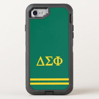 Delta Sigma Phi | Sport Stripe OtterBox Defender iPhone 7 Case