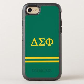 Delta Sigma Phi | Sport Stripe OtterBox Symmetry iPhone 8/7 Case
