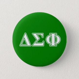 Delta Sigma Phi White Letters 6 Cm Round Badge