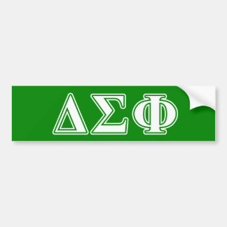 Delta Sigma Phi White Letters Bumper Sticker