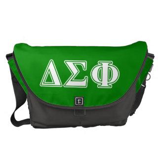 Delta Sigma Phi White Letters Messenger Bag