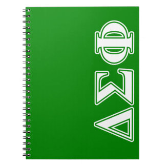Delta Sigma Phi White Letters Notebook