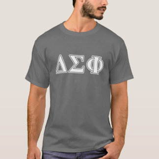 Delta Sigma Phi White Letters T-Shirt