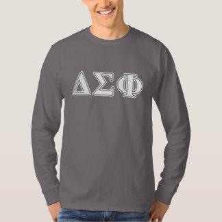 Delta Sigma Phi White Letters T-Shirt
