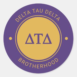 Delta Tau Delta | Badge Classic Round Sticker