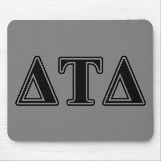 Delta Tau Delta Black Letters Mouse Mat