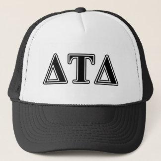 Delta Tau Delta Black Letters Trucker Hat