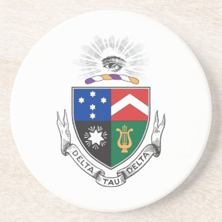 Delta Tau Delta Coat of Arms Coaster