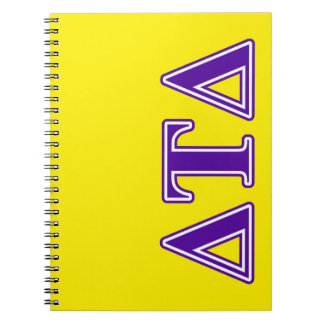 Delta Tau Delta Purple Letters Notebooks