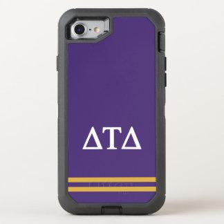 Delta Tau Delta | Sport Stripe OtterBox Defender iPhone 8/7 Case