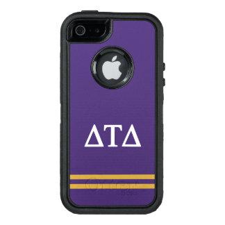 Delta Tau Delta | Sport Stripe OtterBox Defender iPhone Case