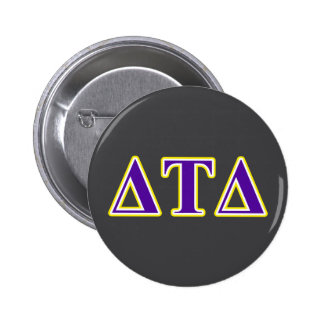 Delta Tau Delta Yellow and Purple Letters 6 Cm Round Badge