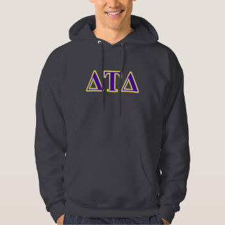 Delta Tau Delta Yellow and Purple Letters Hoodie