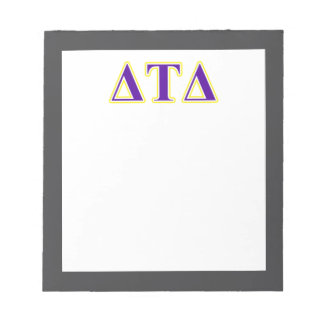 Delta Tau Delta Yellow and Purple Letters Notepad