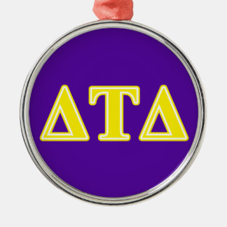 Delta Tau Delta Yellow Letters Christmas Ornament