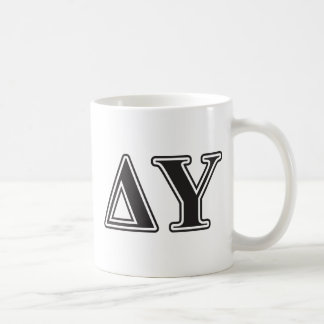Delta Upsilon Black Letters Coffee Mug