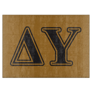 Delta Upsilon Black Letters Cutting Board