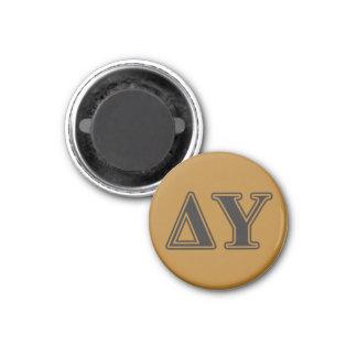 Delta Upsilon Black Letters Magnet