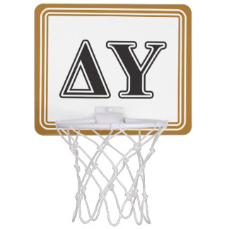 Delta Upsilon Black Letters Mini Basketball Hoop