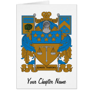 Delta Upsilon Coat of Arms Card