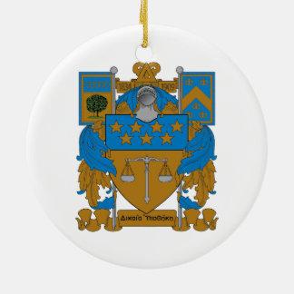 Delta Upsilon Coat of Arms Christmas Ornament