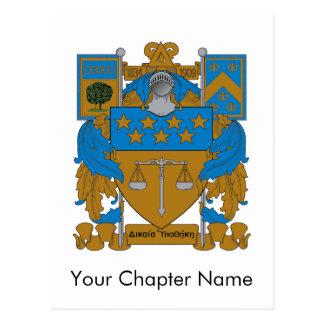 Delta Upsilon Coat of Arms Postcard