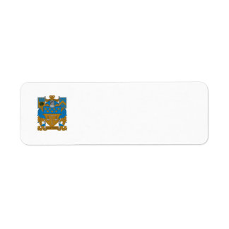 Delta Upsilon Coat of Arms Return Address Label