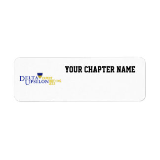 Delta Upsilon - Color Return Address Label