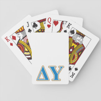 Delta Upsilon Gold and Sapphire Blue Letters Playing Cards