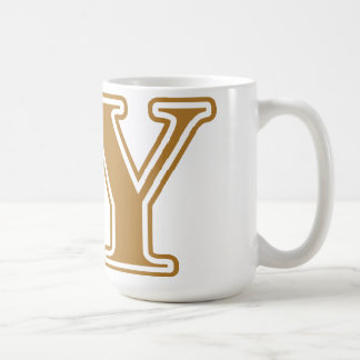 Delta Upsilon Gold Letters Coffee Mug
