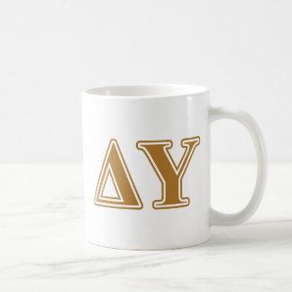 Delta Upsilon Gold Letters Coffee Mug