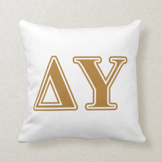 Delta Upsilon Gold Letters Cushion