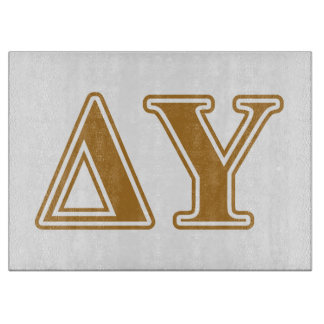 Delta Upsilon Gold Letters Cutting Board