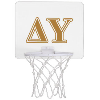 Delta Upsilon Gold Letters Mini Basketball Hoop