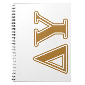 Delta Upsilon Gold Letters Spiral Notebook