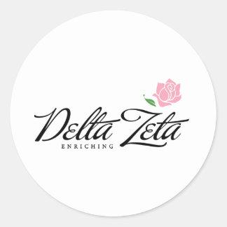 Delta Zeta - Enriching Classic Round Sticker