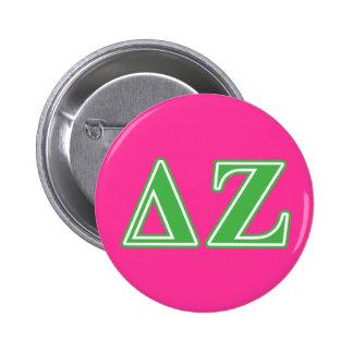 Delta Zeta Green Letters 6 Cm Round Badge