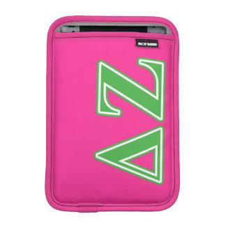 Delta Zeta Green Letters iPad Mini Sleeve