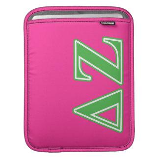 Delta Zeta Green Letters iPad Sleeve