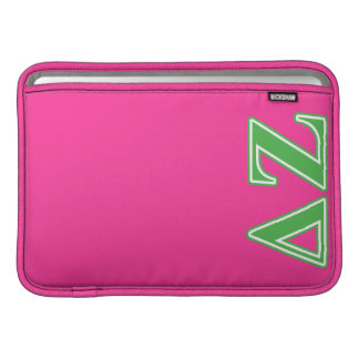 Delta Zeta Green Letters MacBook Sleeve
