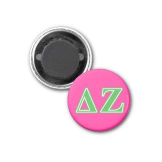 Delta Zeta Green Letters Magnet